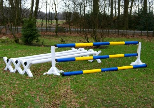 Starter-Set Bodenarbeit blau/gelb und weiß