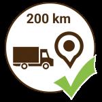 Versand 200km