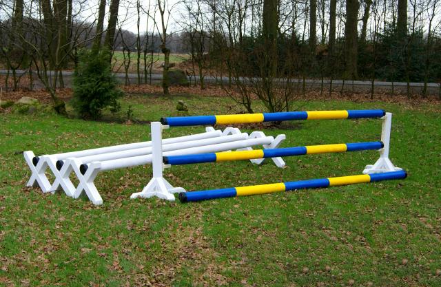 Starter-Set Bodenarbeit gelb/blau/weiß
