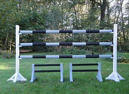 Planken, Gatter und Untersteller schwarz/weiß